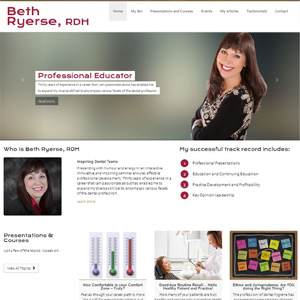 Beth Ryerse - Website Design